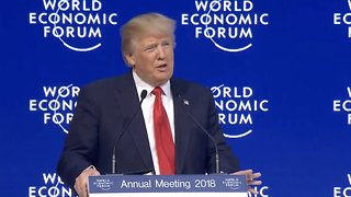 Trump Talks American Economy And Trade At World Economic Forum - Video