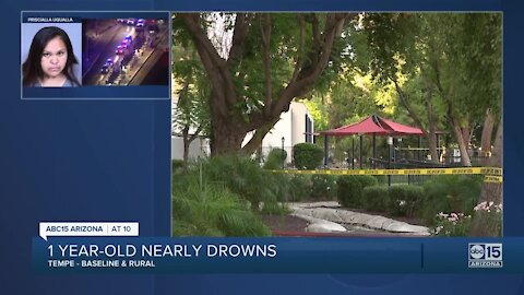 1-year-old hospitalized after near-drowning near Baseline and Rural roads