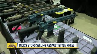 Dick's Sporting Goods to stop selling assault-style rifles - Video