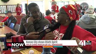 KC paints town red for Chiefs playoff run - Video