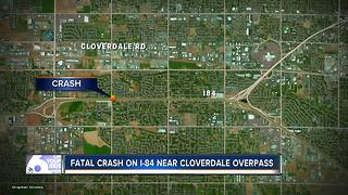 Fatal crash near Cloverdale overpass - Video