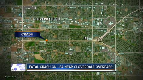 Fatal crash near Cloverdale overpass