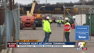 1 injured in accident at Union Terminal project - Video
