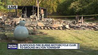 Robbery reported at Lyon Twp. motorcycle club before large fire