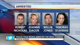 Police: Four people arrested for drug charges - Video