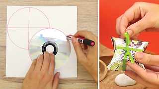 DIY How to create a gift box using a CD - Video