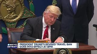 President Trump's revised travel ban goes into effect tonight - Video