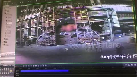 CCTV captures furnace explosion at steel factory in China