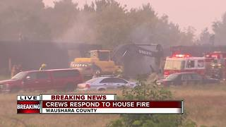 Crews fear homeowner inside as fire raged in Waushara County