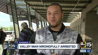 Man wrongfully arrested returns to Arizona - Video