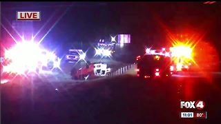 Deadly accident closes lanes - Video