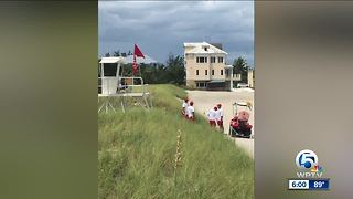 Young child bitten by shark at Bathtub Beach in Martin County - Video