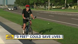 '3 feet law' brokers peace and safety between bicyclists and drivers in the Tampa Bay area - Video