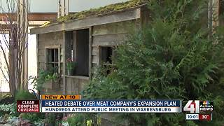Headed debate over meat company's expansion plans - Video