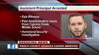 Pasco County assistant principal arrested following Homeland Security investigation - Video