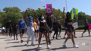 KU athletes organize march against racism, social injustice