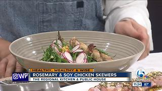 Recipe for rosemary & soy chicken skewers