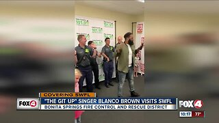 Bonita Springs Fire Control dance with country singer Blanco Brown
