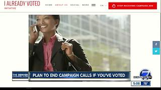 Plan to end campaign calls if you've voted - Video