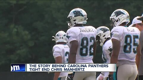 Chris Manhertz findins success with Panthers after college basketball career