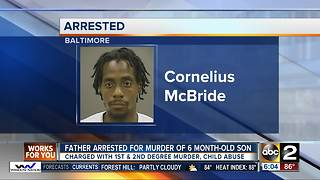 Baltimore man charged in murder of infant son - Video