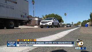 Detours pushing speeding drivers into neighborhoods