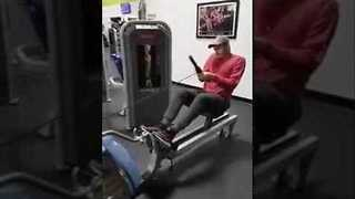 Guy Makes Best Attempt to Use Gym Equipment, Fails Epicly - Video