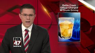 Battle Creek Officer charged for drunk driving - Video