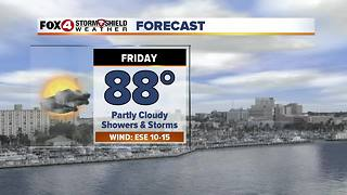 Lower Rain Chances For Friday 10-5 - Video