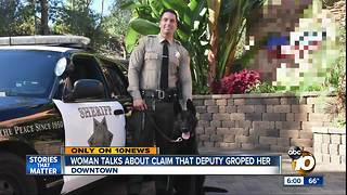 Woman talks about claim that deputy groped her - Video