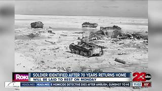 WWII soldier identified after over 70 years returns home - Video