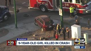 9-year-old girl killed after traffic accident in South Phoenix - Video
