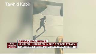 New York City Truck Attack: 8 dead, suspect had license with Tampa address - Video