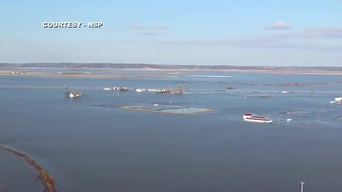 NSP - Aerial Footage of I-29 Near Sapp Brothers Exit in Iowa