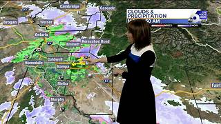 Rain and snow to kick off the new work week in SW Idaho - Video