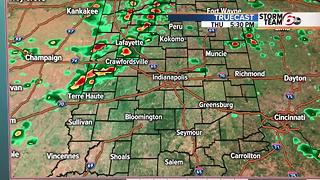 Scattered storms through tomorrow morning - Video