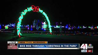 Bike ride kicks off annual Christmas in the Park display - Video