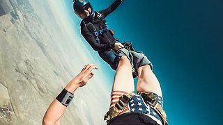 Skydiver Gets Pants Ripped Off During Free Fall - Video