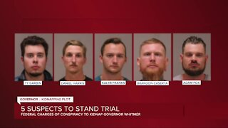 5 men federally charged in Whitmer kidnapping plot will stand trial