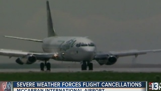 Frontier passengers could be stranded at McCarran until Thursday - Video