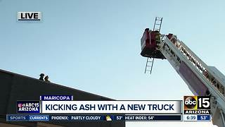 State of the art fire truck in Maricopa - Video