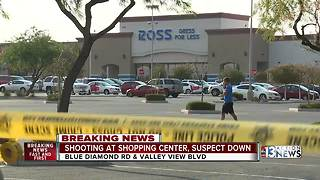 Witnesses discuss officer involved shooting at Ross in shopping center on Blue Diamond and Valley View - Video