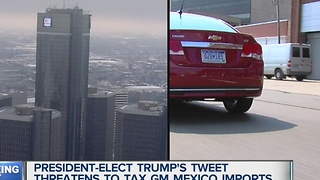 Trump threatens to tax General Motors - Video
