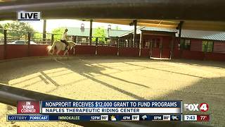 Naples Therapeutic Riding Center receives grants to fund programs for women and children in need - 7:30am live report - Video