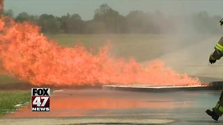 Lansing airport holds emergency training - Video