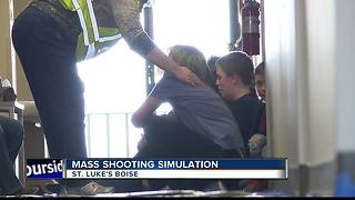 Realistic school shooting simulation helps first responders train - Video