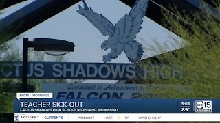 Cactus Shadows High School reopening Wednesday