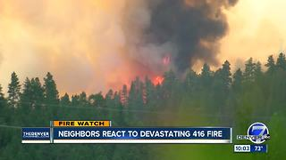 416 Fire grows to 5,100+ acres; fire officials believe it will reach homes in 12-36 hours - Video