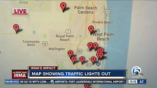 Map shows major intersections without traffic lights - Video