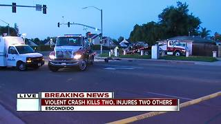 2 dead, 2 injured in Escondido vehicle collision - Video